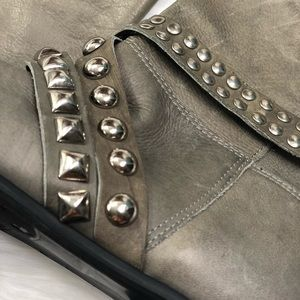 Matisse Shoes - Leather Studded Ankle Boots
